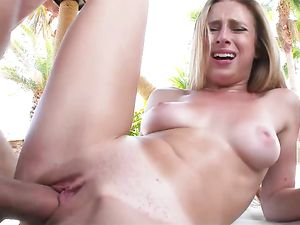 Gorgeous Slut In A Bikini Fucked By A Big Dick Poolside