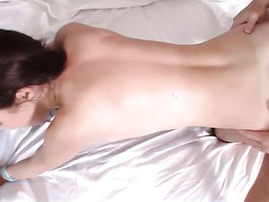 Big Boobs Young Slut Fucked In Her Bald Vagina