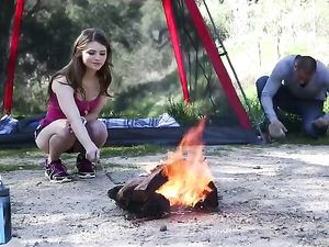 Camping With A Hot Young GF That Loves Dick