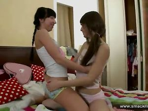 Skinny Lesbian Teens Kissing And Eating Pussy