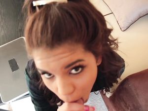 Petite Latina Makes Her First Fuck Video In His Hotel
