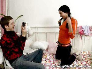 Flirty Teen Tease Anally Fingered By Her Boyfriend