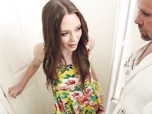 Pretty Dress On The Anal Creampie Girl