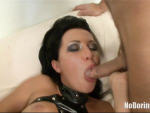 Slut In Leather Is Ready For A Double Anal Penetration