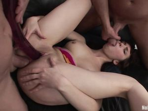 Teenager Double Teamed By Dudes That Love Her Ass