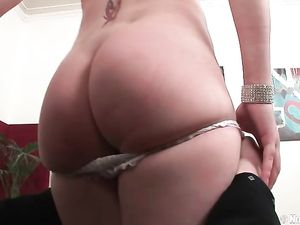 Hot Blonde Girl Dressed In Sexy Satin Wants Anal Sex