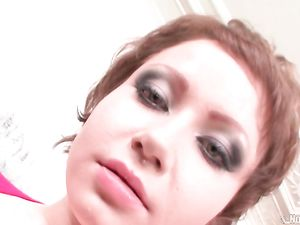 Gagging And Eye Watering Blowjob From A Cute Slut