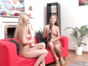 High Heel Hotties Have Lesbian Dildo Sex