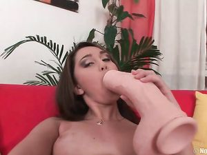 Solo Teen And Her Monster Dildo Have Hot Sex