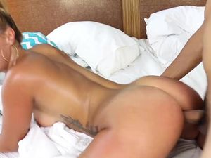 Latina Swimsuit Girl Visits His Hotel Room For Dick