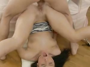 Girl Next Door Moans Loudly As He Fucks Her Cunt