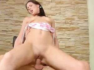 Lap Dancing Teen Pounded In Her Wet Pussy