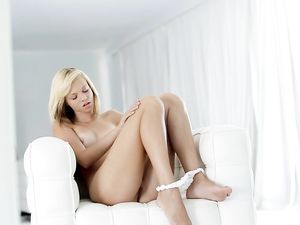 Teen Gets Off Watching Herself Masturbate Solo