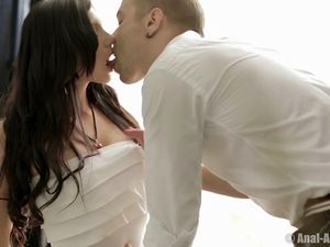 Beauty In A Perfect White Dress Seduced For Erotic Sex