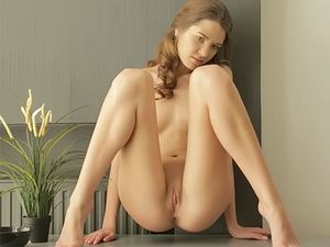 Tiny Tits 18 Year Old Coated In Oil As She Masturbates