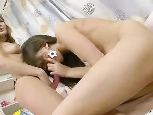 Anally Obsessed Lesbian Teen Fingers Her Tight Asshole
