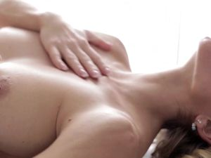 Sensual Lesbian Lovemaking On A Massage Table