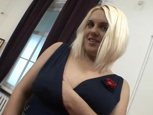 Splendidly Voluptuous Blonde Is Here For A DP