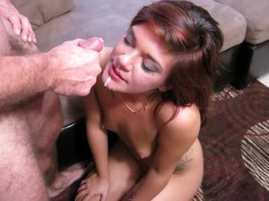 Tiny Boobs Cutie Fucked Before He Cums On Her Face