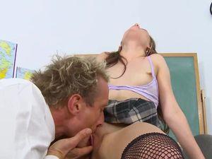 Sluttiest Girl In School Fucks Her Teacher