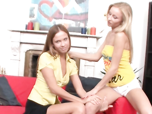 Skinny Sluts Suck Big Strapons And Fuck Each Other