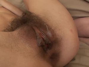 Thick Cumshot In Her Voluminous Pubic Hair
