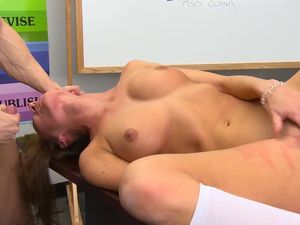 Young Pussy And Perfect Tits On His Schoolgirl Slut