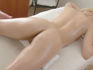 Bald Blonde Teen Pussy Swallows His Hard Cock