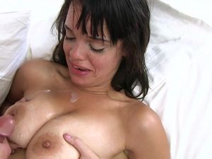 Cumshot On The Chest Of His Latina Lover Girl