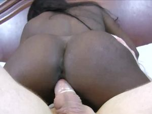 Leggy Black Girl Climbs On White Cock And Gets Laid