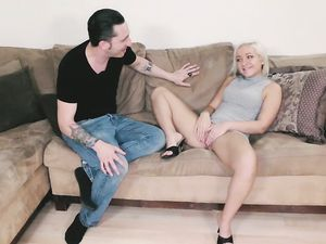 Blonde Stepsister Tries Doggy Style Sex In Front Of The Camera